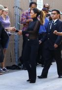 Halle Berry see through to bra heading to a show