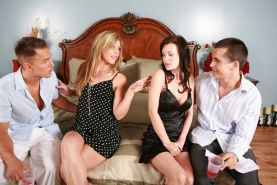 Housewives hardcore foursome group sex
