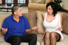 Alia Janine big titted MILF fucked and tit cummed by younger stud