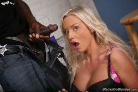 Busty blonde Jordan Pryce in interracial anal fuck