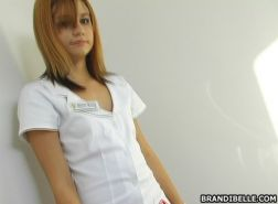 Brandi Belle the kinky handjob nurse doing her job