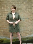 Busty amateur babe Gemmas outdoor flashing and solo posing public nudity round h #78611132