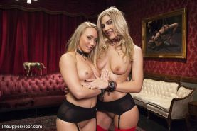 AJ Applegate in bdsm submissive training with Amanda Tate at kinky sex training