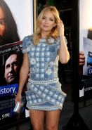 Kate Hudson leggy wearing a mini dress at the HBO's 'Clear History' premiere in