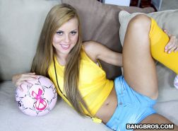 Sexual brazilian teen Jessie Rogers fucked in her round booty