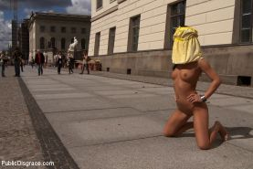 European beauty is stripped naked in the streets then fucked in the ass and left