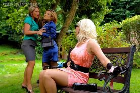 Lesbians going kinky at the park