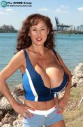 Big boobed korean pornstar Minka on South Beach