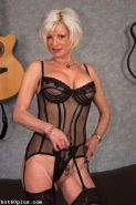 Mature busty blonde granny in lingerie fucked hardcore cumshot