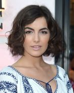 Camilla Belle waering skimpy Venezuelan folk designed outfit at the Carolina Her