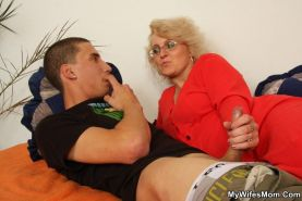 Watch Blond Mom Sucking Her Son In Laws Big Hard Dick
