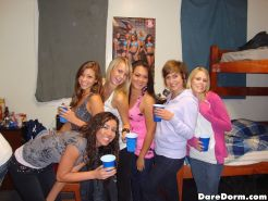 Hot college girls get fucked in the boys dorm