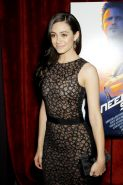Emmy Rossum see-through to bra at the Need For Speed screening in New York City