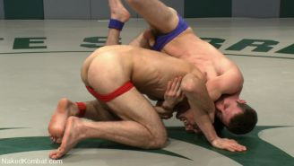 Gay twinks wrestling with each other