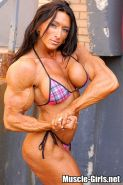 Huge muscular Canadian Female Bodybuilder Autumn Raby