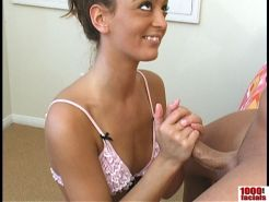 Italian Cutie gets Face Full of Sperm