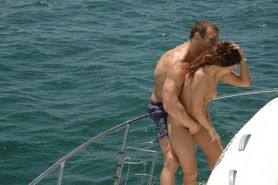 Nicole takes it all off on the yacht.|Nicole grinding her ass on a boat owner.|H