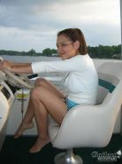 Real amateur teen girl on a boat