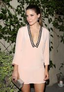Sophia Bush braless showing cleavage at Elle and Songbirds 'Miss Me' album relea