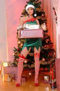 Abbie Cat sexy xmas elf with hot ass and piercing in her pussy