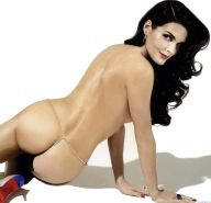Angie Harmon showing her nice ass and huge boobs and posing very sexy