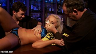 Cemetery Heights: A Hogtied feature. Hot bartender, drugged, taken to the insane