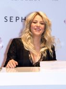 Shakira showing huge cleavage at the 'S by Shakira' perfume launch at Sephora in
