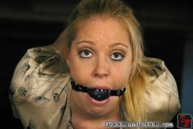 Slave girl Hollie Stevens gets bound and harsh fucked by TJ Cummings