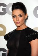 Taylor Cole braless wearing wide open black dress at GQ 2010 'Men Of The Year' P