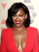 Meagan Good showing huge cleavage at the TCA Party