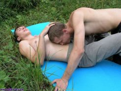 Twink Boys Discovering First Time Gay Anal Sex Outdoors