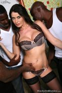 busty brunette Eva Karera gets gangbanged by four hung blacks