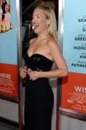 Busty Kate Hudson wearing a strapless black dress at the Wish I Was Here screeni