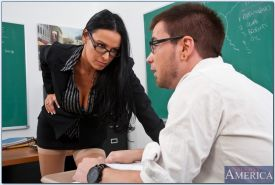 Vanilla DeVille fucked by a horny student after class