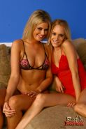 Fayth Deluca and Erin Moore on a hung black Stud