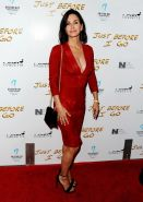 Courteney Cox showing huge cleavage at the Just Before I Go premiere in Hollywoo