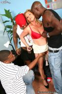 Ginger Lynn gets double penetrated by three hung black brothas