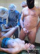 Hot babe gets messy golden shower and drinks pee