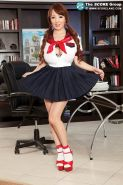 Big boobed asian Hitomi Tanaka in schoolgirl outfit