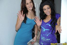 Anal audition for two brunette wannabe pornstars