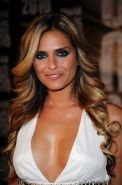 Clara Morgane braless showing nice cleavage at 2010 World Music Awards in Monte