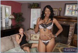 Sexy black titted milf lady got hard fucked