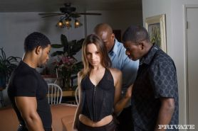 Amber Rayne group anal fucked by gang crew in orgy