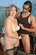 Fat mature teacher getting fucked by a black stud in classroom #75512011