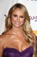 Stacy Keibler busty wearing sexy purple dress at 15th Annual Hollywood Film Awar