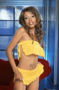 Beautiful busty Lacey Duvalle playing with yellow dildo