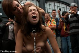Audrey Rose becomes the Folsom Street Fair whore being paraded around naked, flo