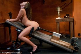 Tori Black fucks machines for the first time, in her tight pussy and ass. Tori B