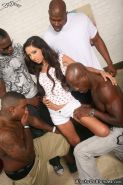 Petite Trinity St Clair in interracial anal groups