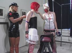 Slave doll bound gagged and whipped into orgasm